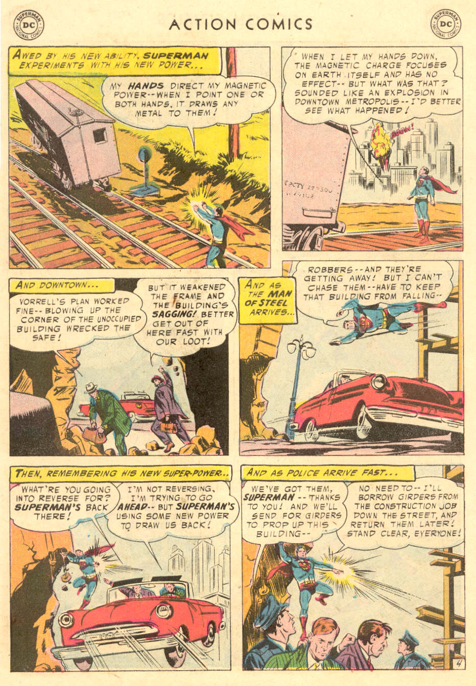 Read online Action Comics (1938) comic -  Issue #221 - 6