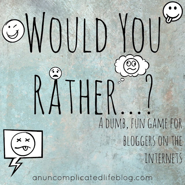 A fun game for bloggers when they're out of blog post ideas!
