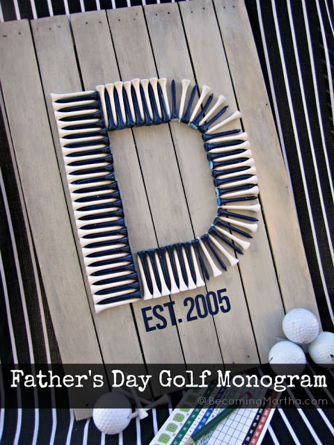 Father's Day Golf Monogram
