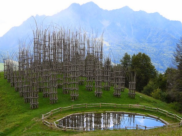 Cattedrale Vegetale, tree cathedral Giuliano Mauri