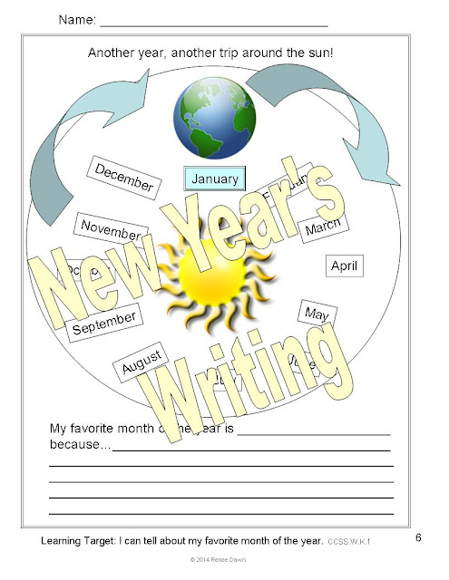 https://www.teacherspayteachers.com/Product/New-Years-Writing-New-Years-Activities-1618510