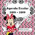 AGENDA ESCOLAR VERSIÓN Minnie Mouse editable powerpoint