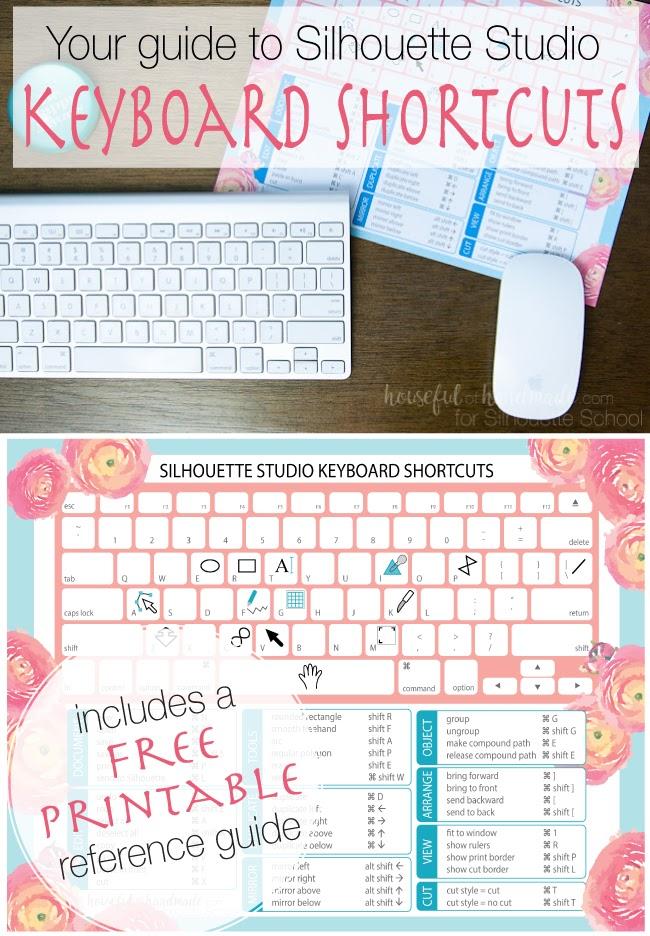 keyboard shortcuts mac, keyboard shortcuts pc, silhouette studio pc, silhouette studio tutorials, silhouette studio v4 tutorials