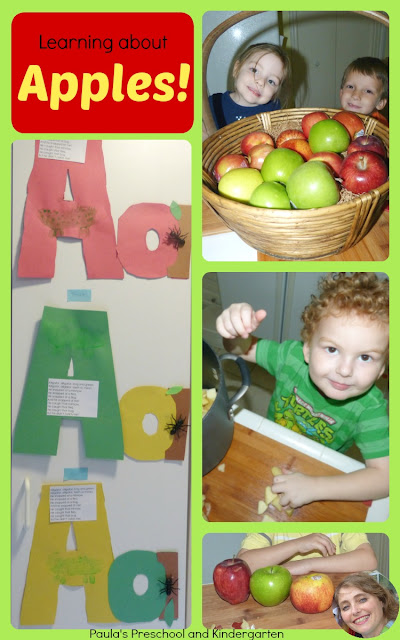 Learning about apples in preschool and kindergarten: fun activities, snacks, projects, graphs and more!