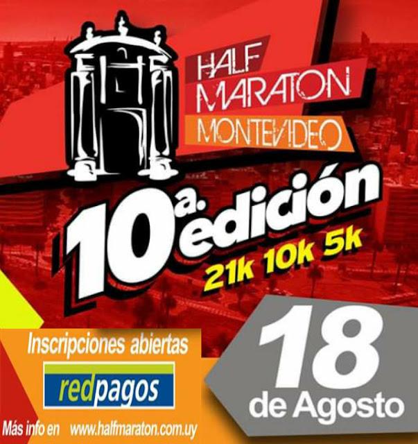 Half Maratón Montevideo (21k 10k 5k - Canteras del parque Rodó, 18/ago/2019)