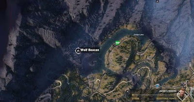 Far Cry 5, Wolf Beacon Location, North of Grand View Hotel, Call of the Wild