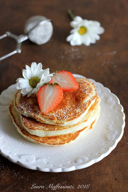 pancakes light con yogurt ricetta