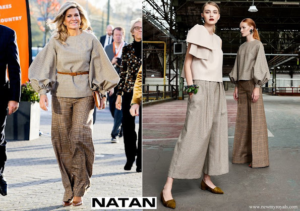 Queen Maxima wore Natan top and trousers from FW Collection