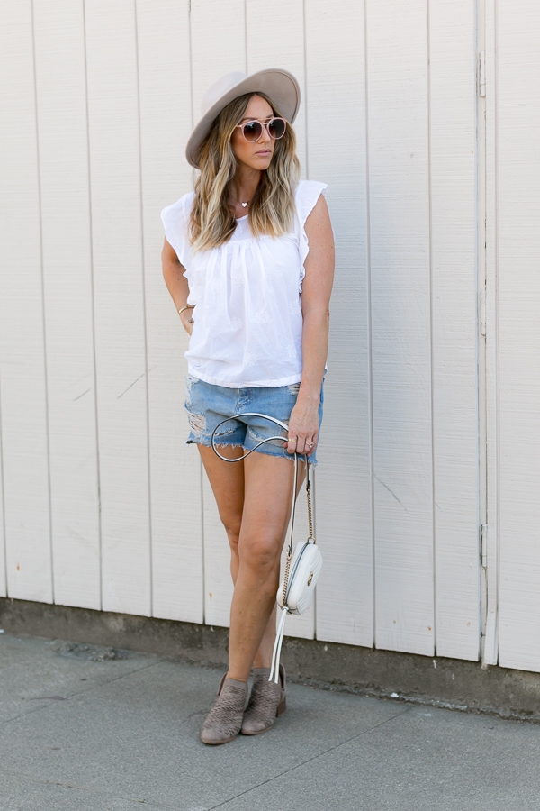 spring style ripped jean shorts