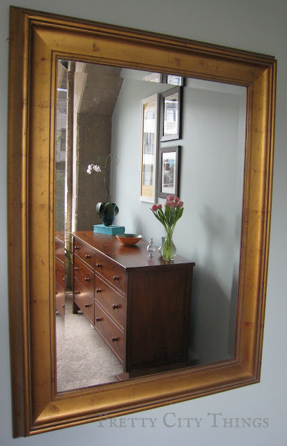 The mirror was a $60 Craigslist score, originally from Pottery Barn