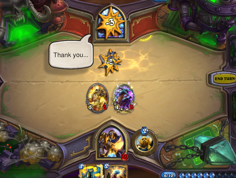 Blizzard Hearthstone The Curse of Naxxramas construct quarter walkthrough Thaddius Heroic paladin deck defeat