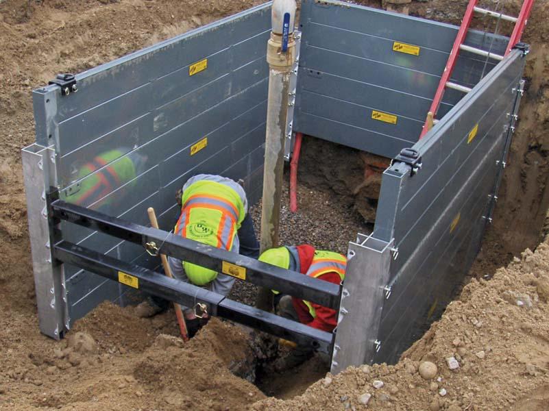 Aluminum Shoring Post : Hse professionals excavation safety procedure