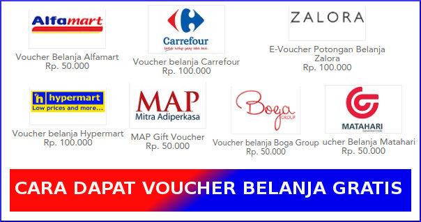 cara mendapatkan voucher gratis untuk belanja