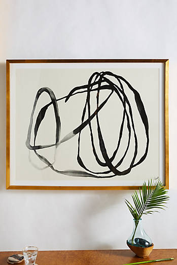 Abstract art print Anthropologie Motion LInes 3 Wall Art