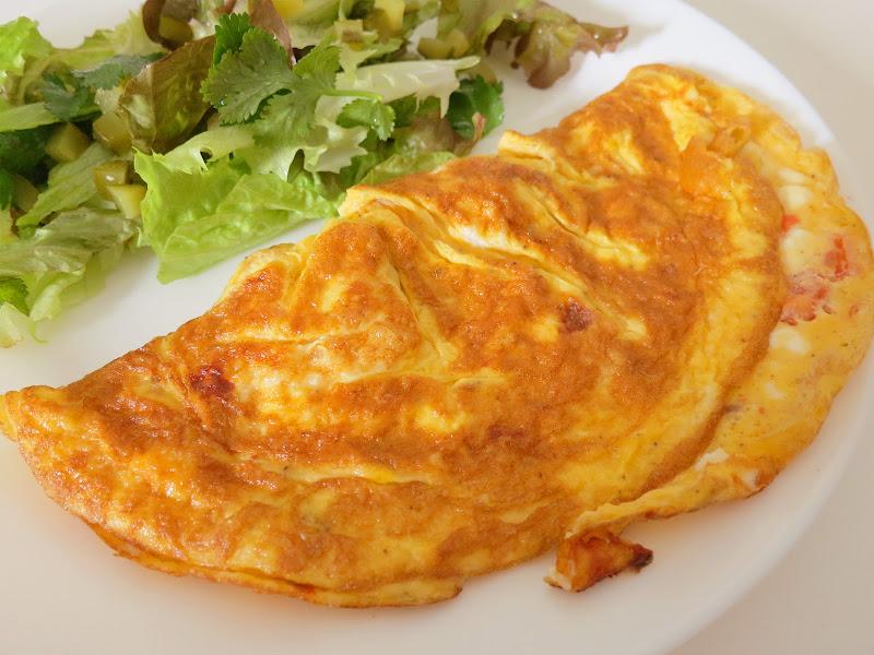 Omelete de Tomate e Feta