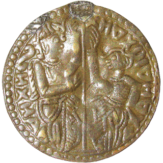 [KLA001] Venetian ducat type copper coin from Kerala