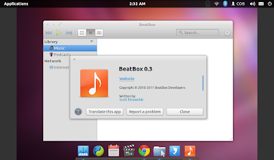 beatbox music player in Elementary OS