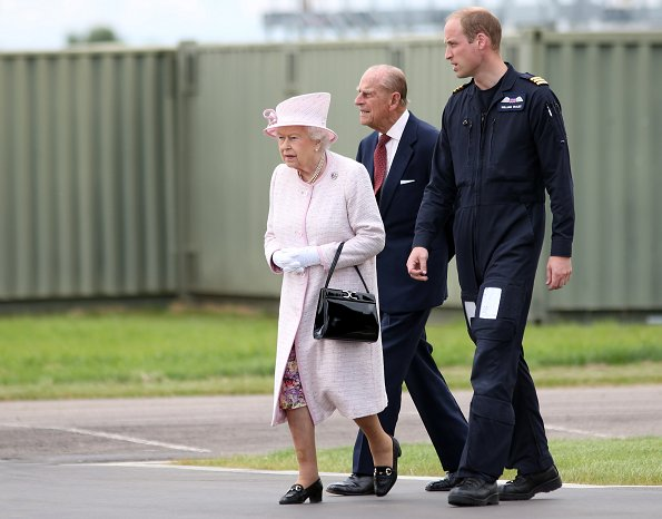 Queen Elizabeth, Prince William, Kate Middleton, Ducghess Cambridge open East Anglian Air Ambulance at Cambridge Airport