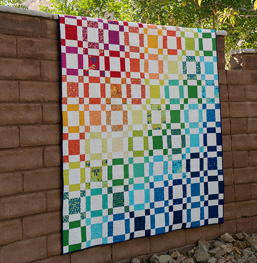 Rainbow Taffy Quilt Free Pattern
