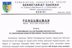 PENGUMUMAN CPNS KABUPATEN KEDIRI JAWA TIMUR TAHUN 2018