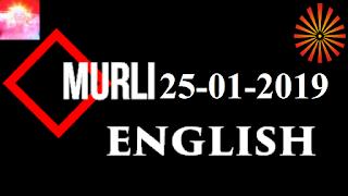 Brahma Kumaris Murli 25 January 2019 (ENGLISH)