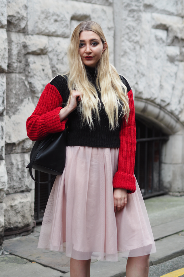 how to wear red with pink fashion blog