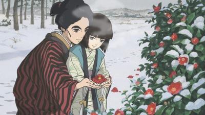 Sakae Hokusai, dite O-Ei, et sa petite soeur aveugle dans Miss Hokusai