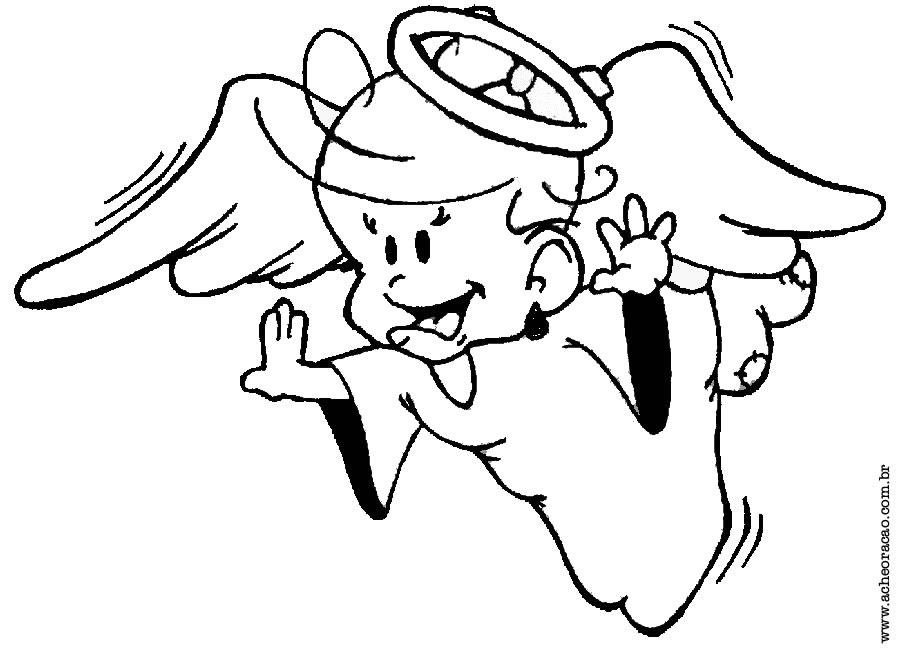 Desenhos Dia Do Anjo Da Guarda Para Imprimir E Colorir Mundinho