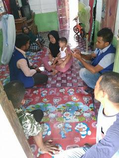 LPD Kunjungi Firza Penderita Tumor Mata,Aceh Utara