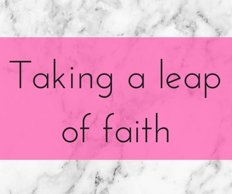 Danielle n the city, leap of faith, faith, job, freedom, blogging, full time