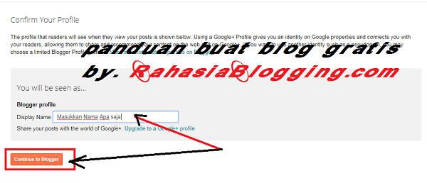 tutorial membuat blog gratis di blogger