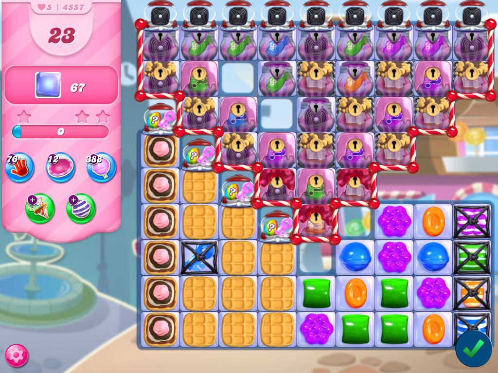 Candy Crush Saga level 4557