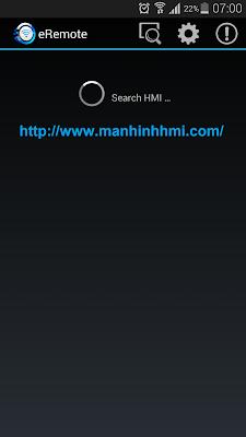Phần mềm DOP eRemote 2.00.13 dùng cho hệ điều hành Android làm SCADA cho HMI Delta