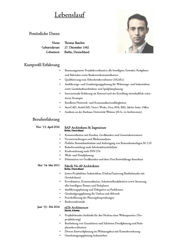 architecture portfolio cv