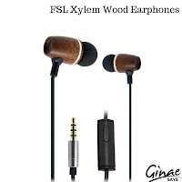 FSL Xylem Wood Earbuds with Microphone and Remote