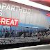 Vandalismo no Metrô de Londres condenando Israel