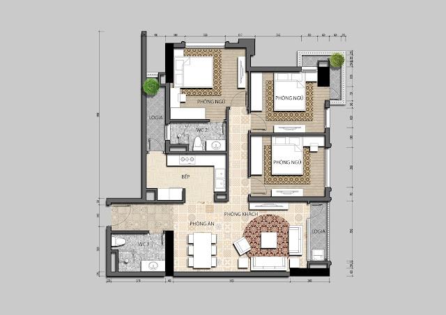 Thiết kế mẫu căn hộ IRIS GARDEN
