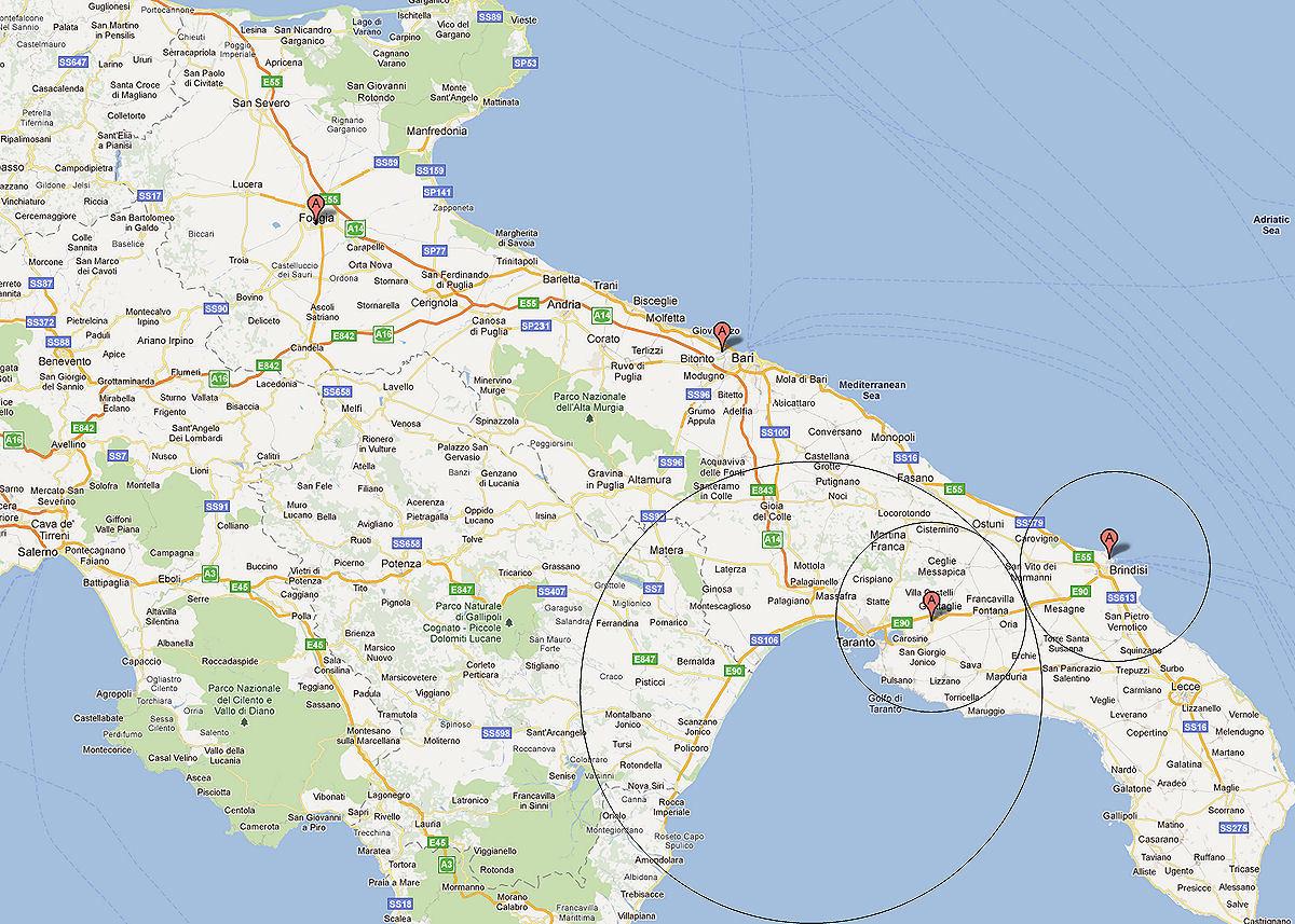 Cartina Aeroporti Puglia.Movimento Aeroporto Taranto Settembre 2011