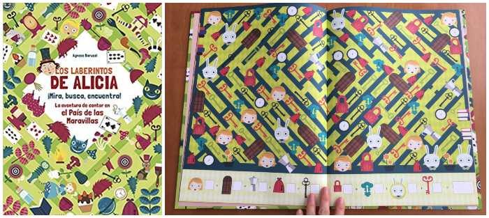 mejores cuentos libros infantiles de 5 a 8 años Laberintos alicia busca encuentra