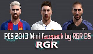 PES 2013 Mini facepack 2016 by Rgr DS