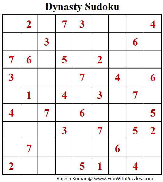 Dynasty Sudoku (Fun With Sudoku #167)