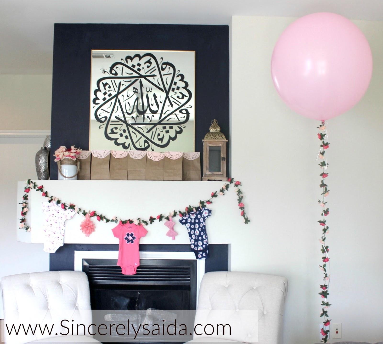 Baby Shower Flower Balloon Arch Sincerely Saida