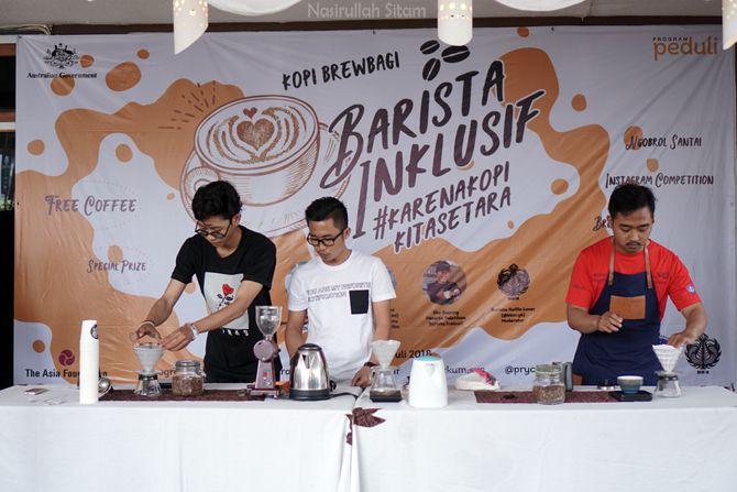 Kompetisi meracik kopi di Cupable Coffee