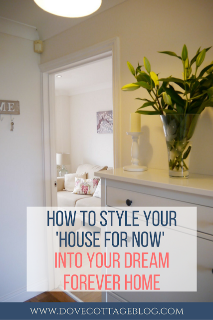 how to transform your rented house, first time property, or starter home into your dream forever home using quick, easy, simple updates on a budget