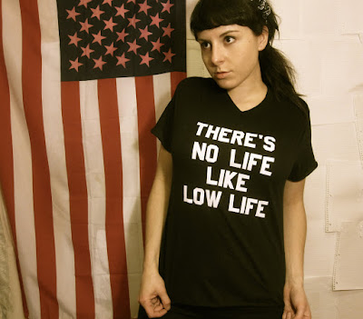'THERE'S NO LIFE LIKE LOW LIFE' slogan T-Shirt. PYGear.com