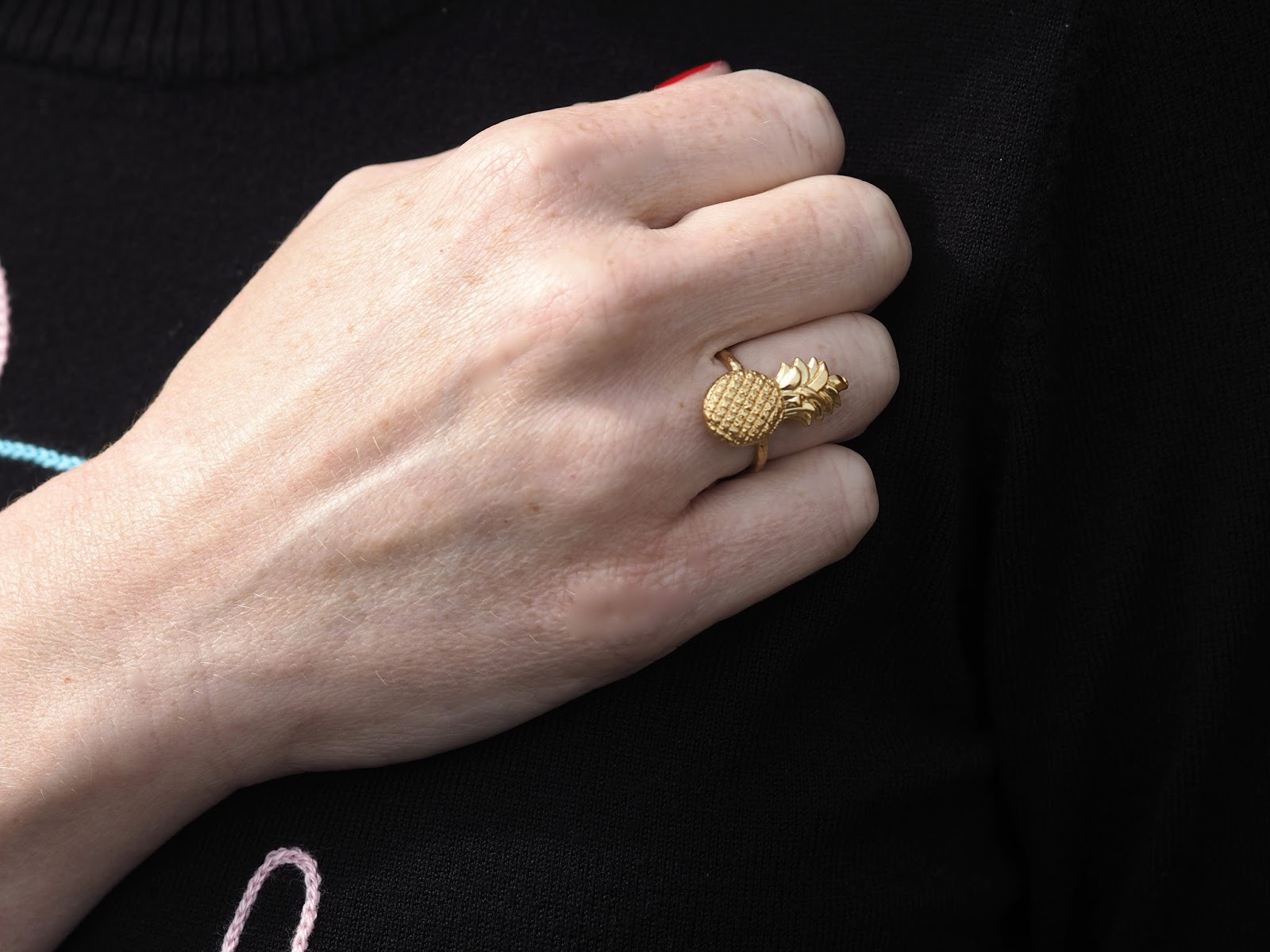 Gold pineapple ring by Danon