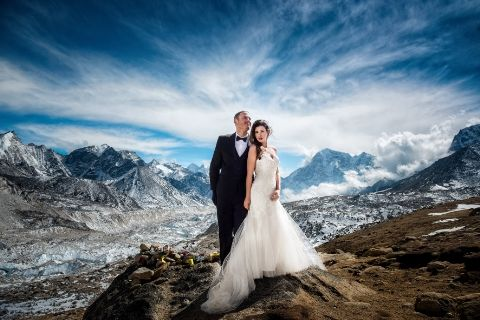 Ashley Schmeider and James Sisson Mt. Everest