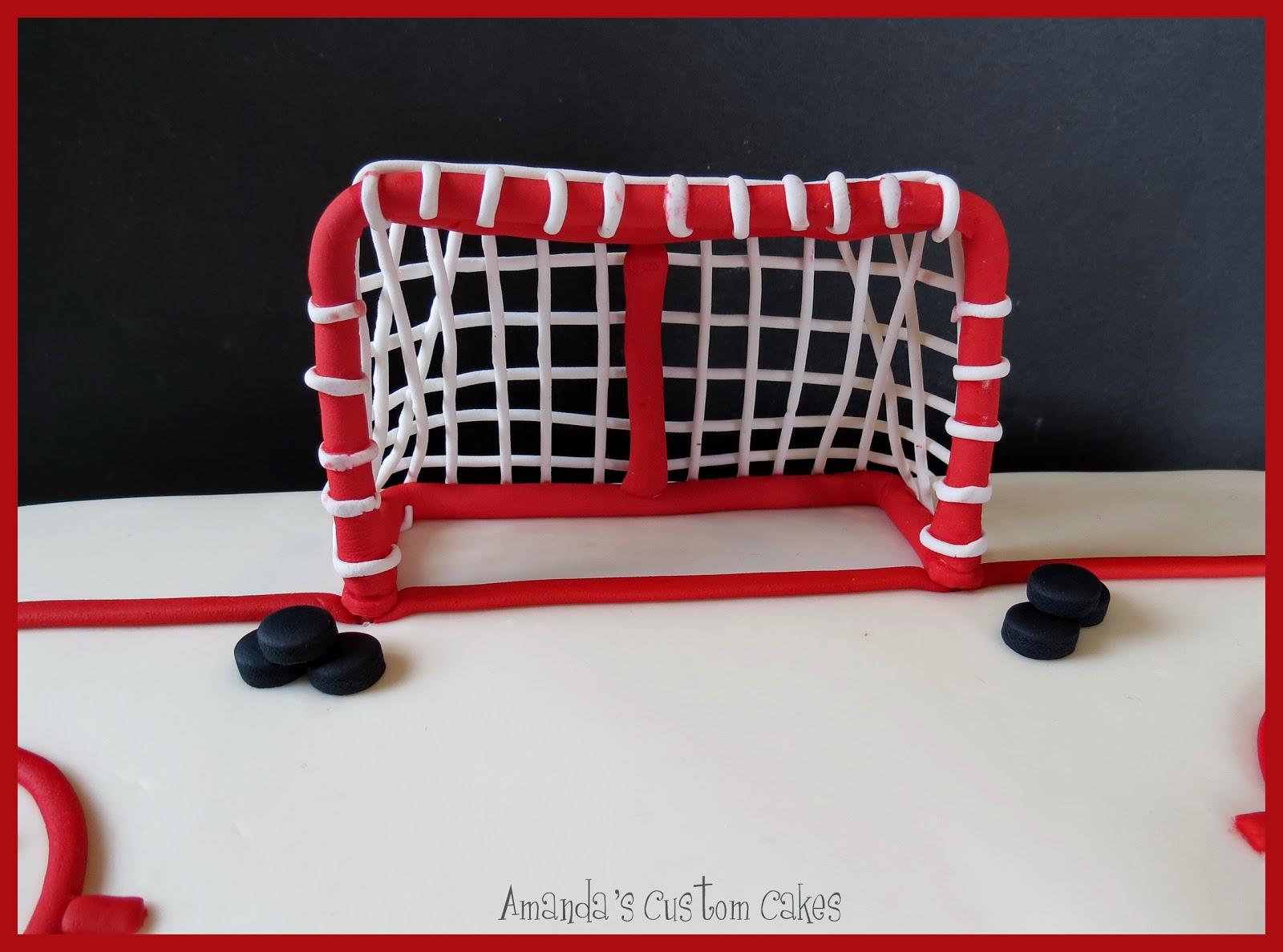 Hockey Net Cake Decoration