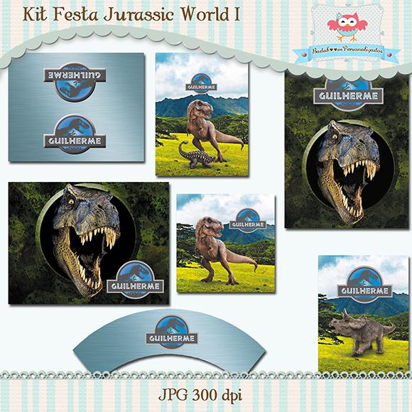 Jurassic World, arte digital, kit digital, capa de caderno, solapa, rótulos, tubete, tag, personalizados, kit festa infantil