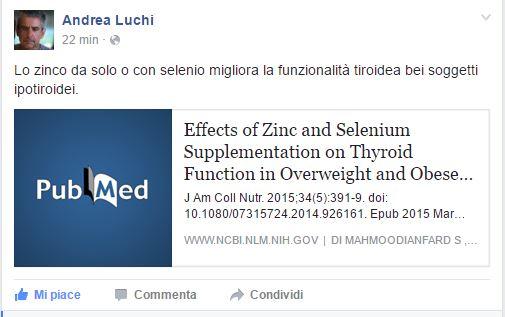 fa il lavoro di dieta gm per i pazienti della tiroide